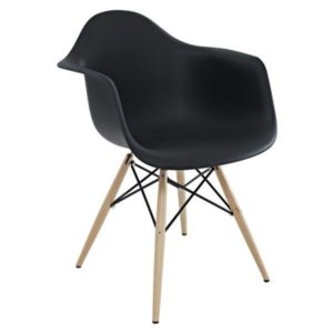 Chaise style scandinave noire