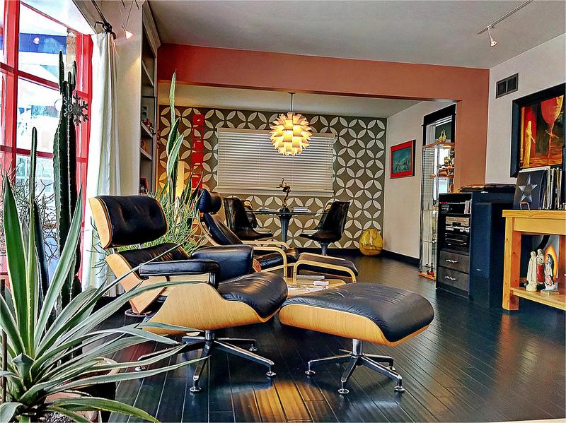 décoration rétro des années 60 avec meubles vintages