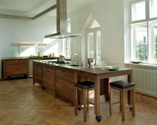 cuisine ouverte rustique moderne