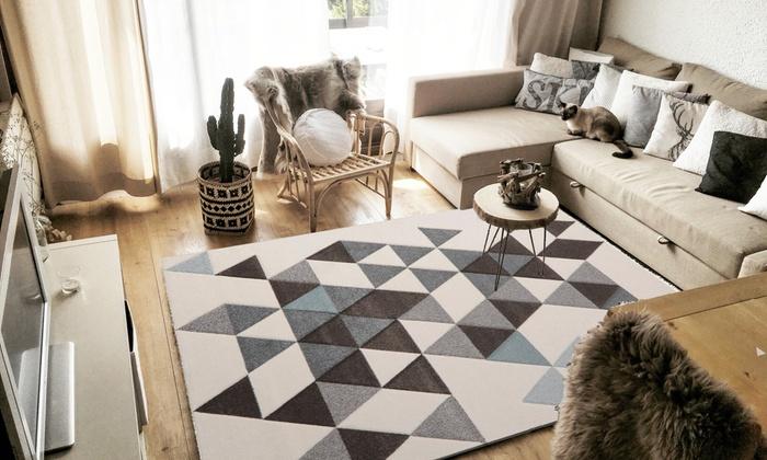 tapis style nordique trois couleurs